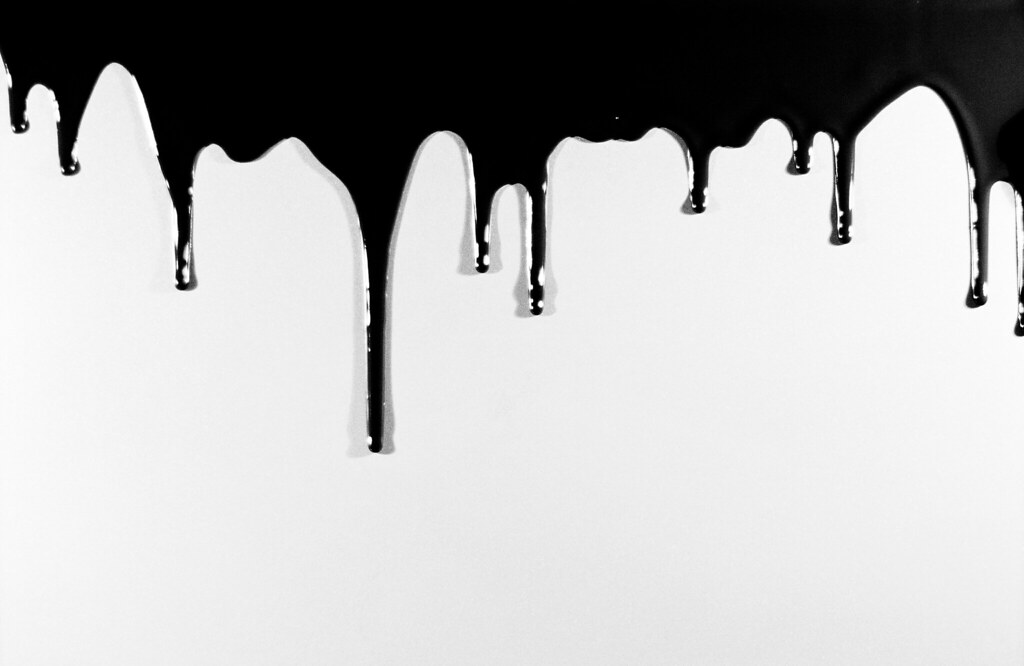 Paint Dripping High Contrast High Contrast Version Work