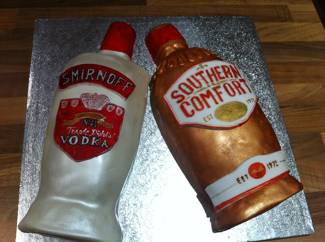 Smirnoff and Southern Comfort Bottles Cake | Flickr - Photo Sharing!
