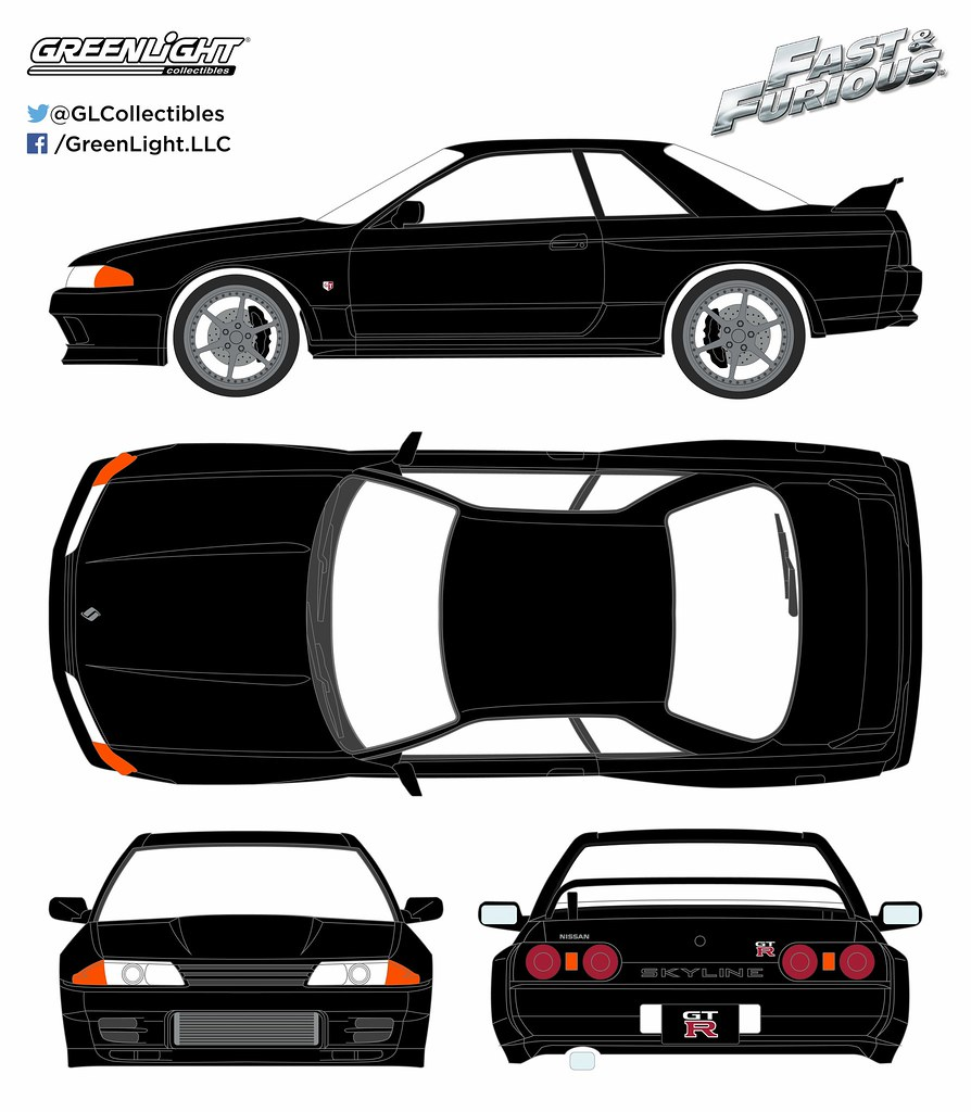 Nissan Skyline 2016 >> 86229 - 1-43 Fast and Furious - 1989 Nissan Skyline - Furi ...