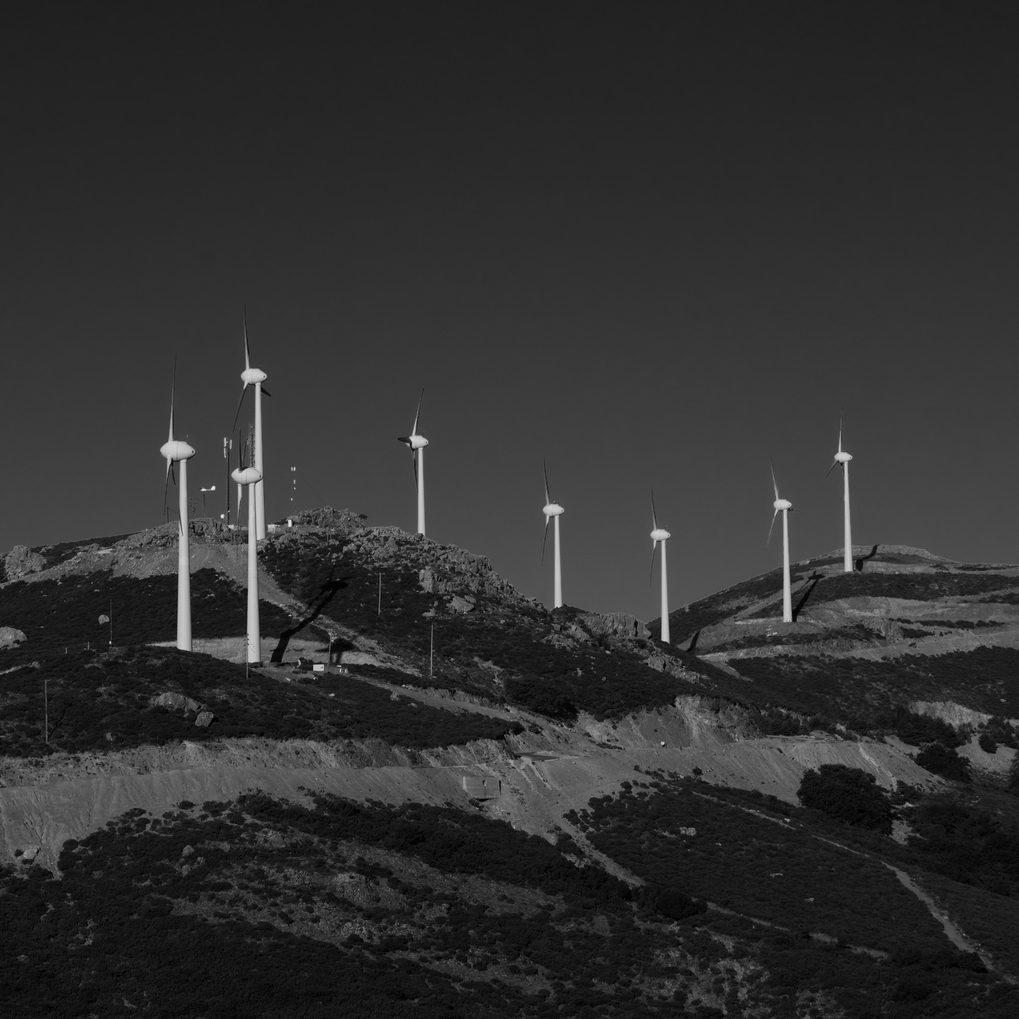 Omalos wind turbines