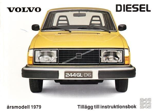volvo 244 gl d6 1979 owners manual cover the diesel versio flickr rh flickr com