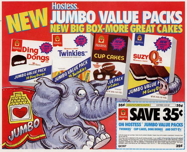 Hostess jumbo value packs jumbo the elephant weekend - Jumbo mobel discount ...