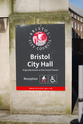 Bristol City Council welcomes new Mayor George Ferguson, known for wearing red trousers. | by Sa//y
