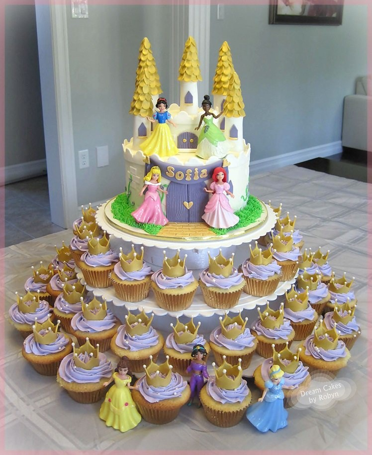 Princess Castle Birthday Cake And Cupcakes Www Facebook