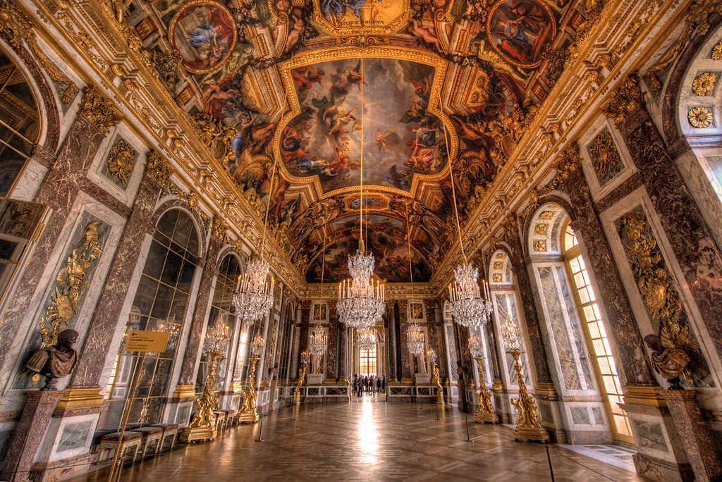 Palace Of Versailles Hall Of Mirrors Hdr Versailles In Op Flickr