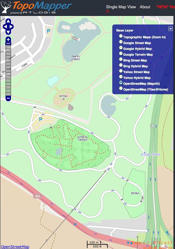 Zoomed In To Ramat Gan Safari Zoo Map In Hebrew Hi Ehud Flickr - Ramat gan map