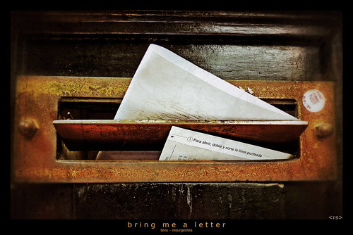 bring me a letter | by <rs> snaps