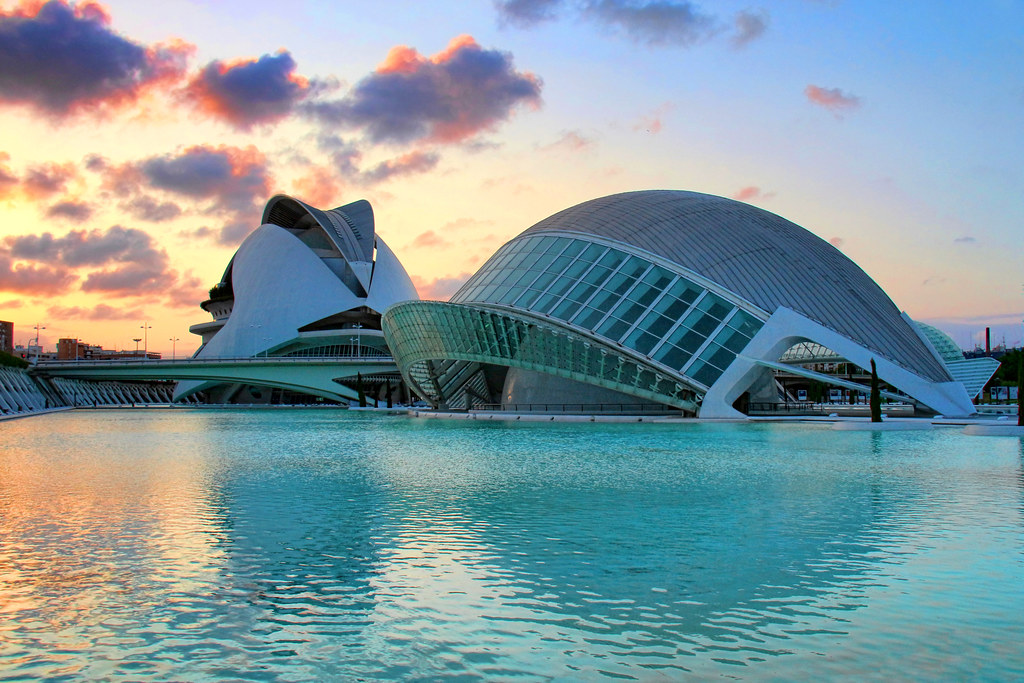 Sunset in the City of Arts and Sciences, Valencia, Spain  Flickr