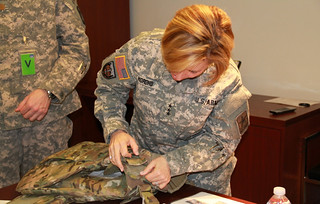 Army Surgeon General dons new female body armor | by Army Medicine