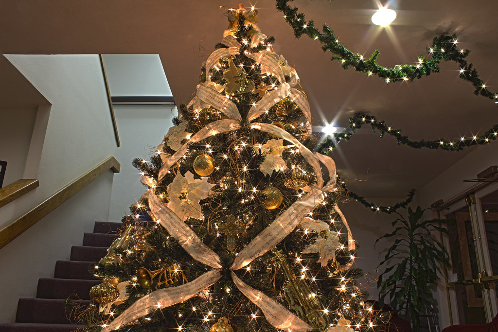... Gold Music Themed Christmas Tree | by Mastery of Maps - Gold Music Themed Christmas Tree Michael Huey Flickr