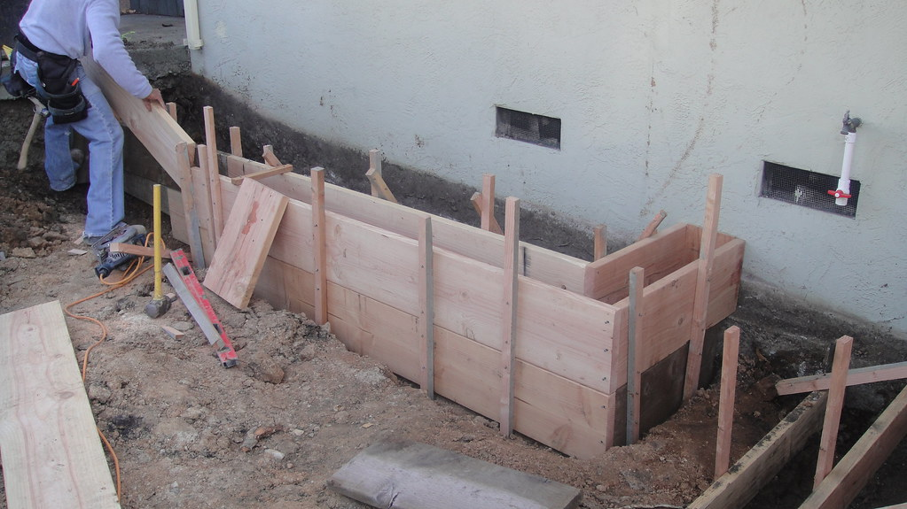 wood concrete forms for retaining wall oakland all access