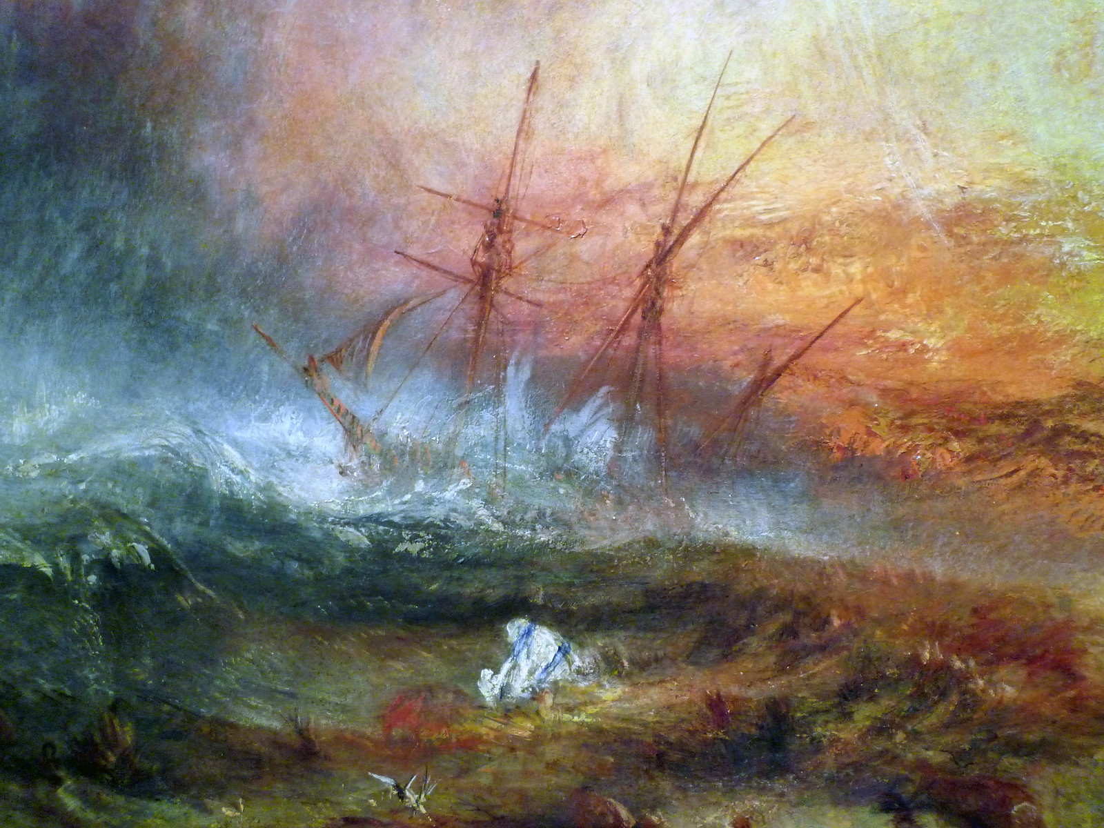 JMW Turner, Slave Ship, detail of ship | by profzucker