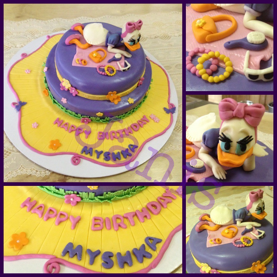 Daisy Duck Birthday Cake Two Layer Chocolate Cake Covered Flickr