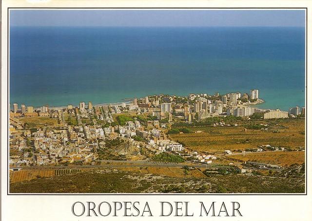 Vista Aérea Del Strip Las: Vista Aérea Del Pueblo De Oropesa. 1996