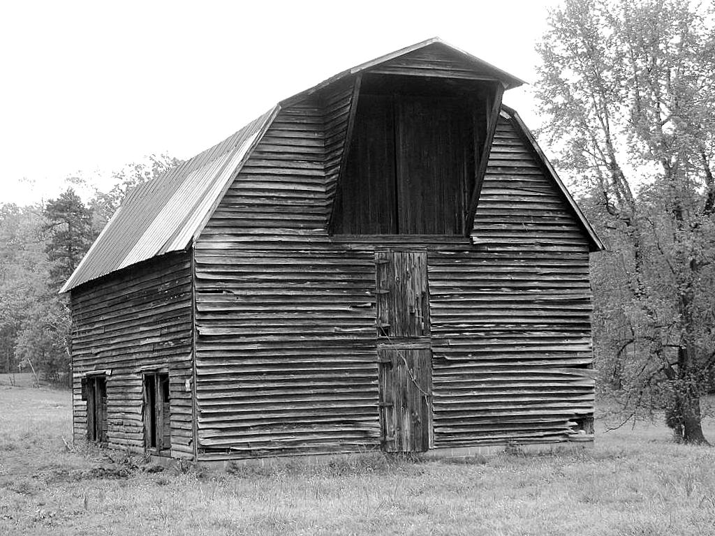 Barn with gambrel roof and hay hood 1 a set of three for Gambrel roof barn