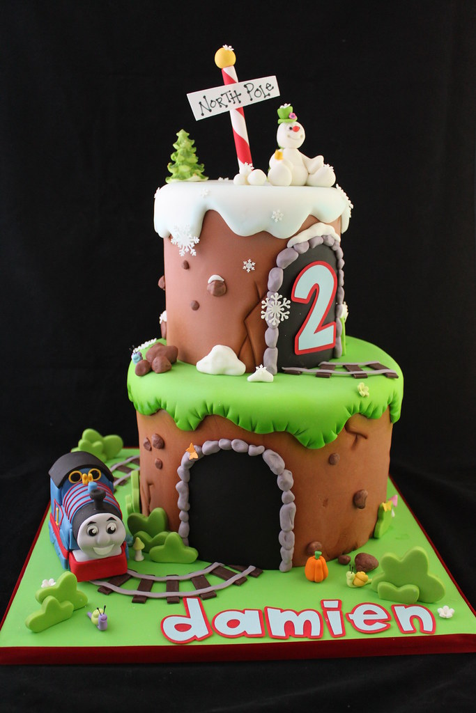 Thomas The Tank Engine And Frosty Cake This Was Created