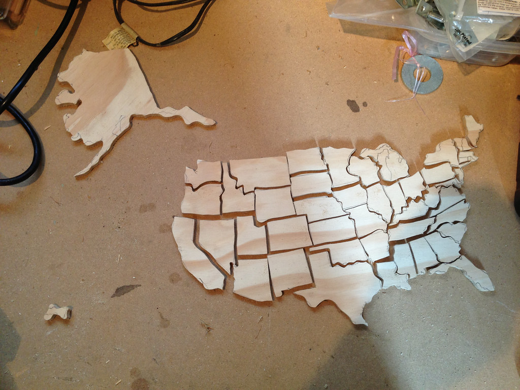 U S Map Puzzle With Alaska And Hawaii To Scale And In Location By Btmeacham
