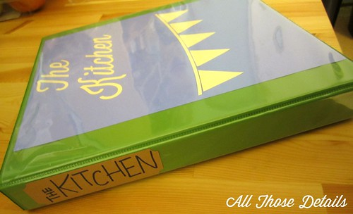 Kitchen Binder 2 | by All Those Details