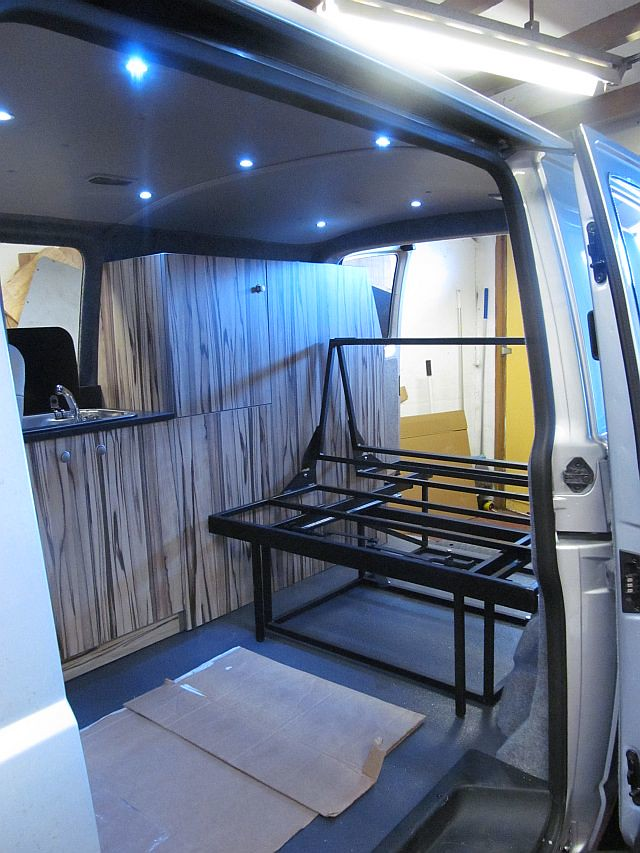 Vw T5 Camper Conversion With Rock N Roll Bed Vw T5