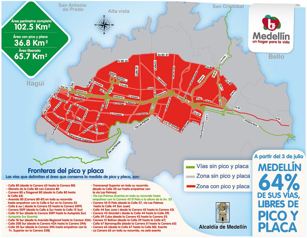 Mapa V 237 As De Pico Y Placa Secretar 237 A De Movilidad De