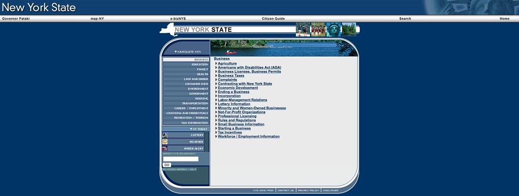 Captura de NY.gov en 2005