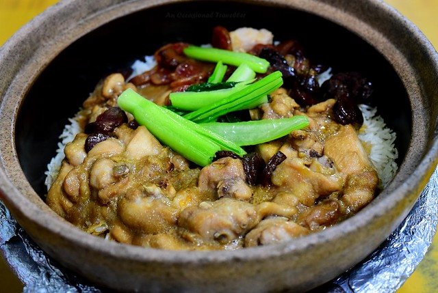 Piping hot claypot chicken rice