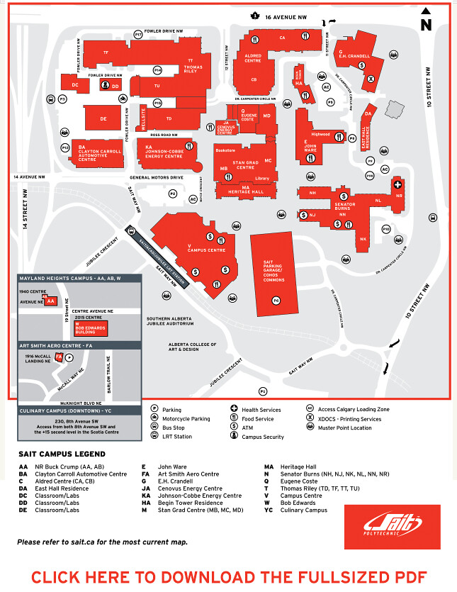 Sait Campus Map With The Newly Opened And Or Renamed