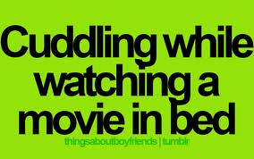 Cuddling while watching a movie in bed | Aliceofthespade ...