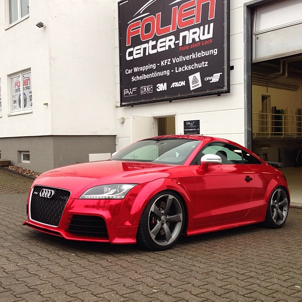 Audi TT-RS in red-chrome by #hexis #chrome #carwrap #carwr… | Flickr