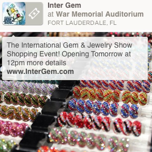 The International Gem And Jewelry Show #intergem Starting