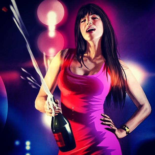 Night Club Drink Nice Video Game Gta Gtaiv Girl -6640