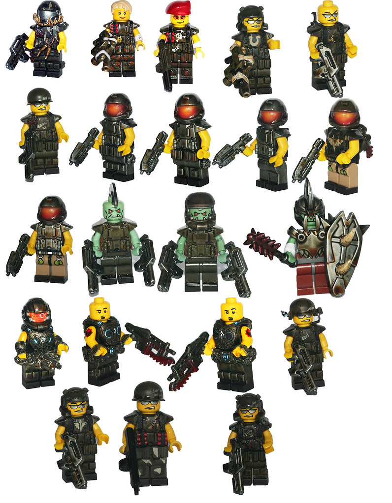 Toywiz collage here is a collage of all the figures going flickr toywiz collage by brick mercenaries custom minifigures voltagebd Choice Image