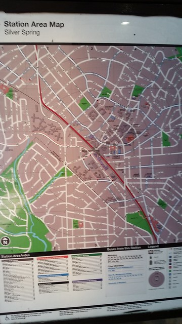 Silver Spring map, WMATA Silver Spring Metrorail Station