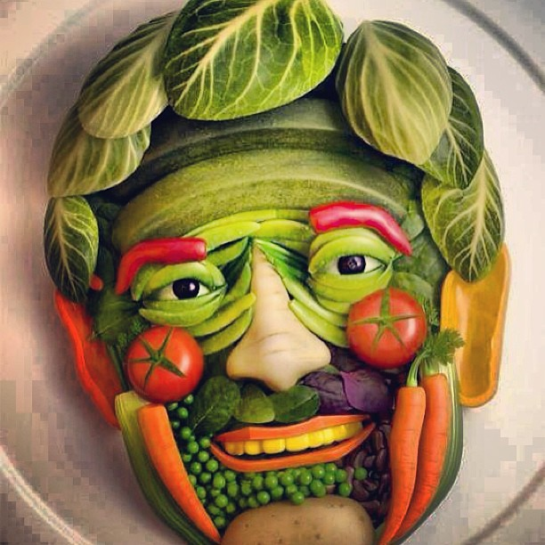 They made this guy's face out of vegetables! | MC Lars | Flickr