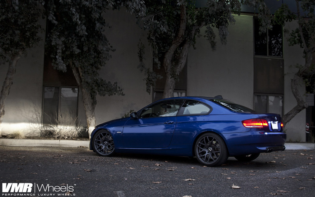 Vmr Wheels 19 Quot Dark Gunmetal V710 On Montego Blue Bmw E9