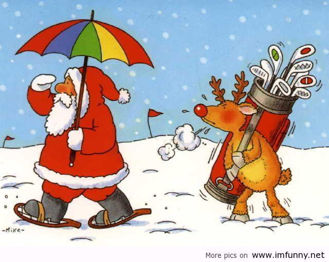 Santa-Claus-playing-golf | Flickr - Photo Sharing!