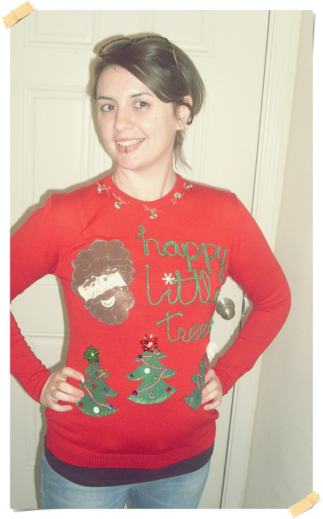 Bob Ross Ugly Christmas Sweater Happy Little Christmas Tre Flickr