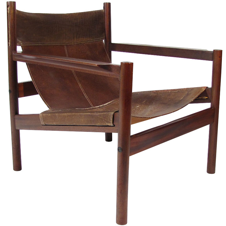 chair loft tan leather sling furniture seating