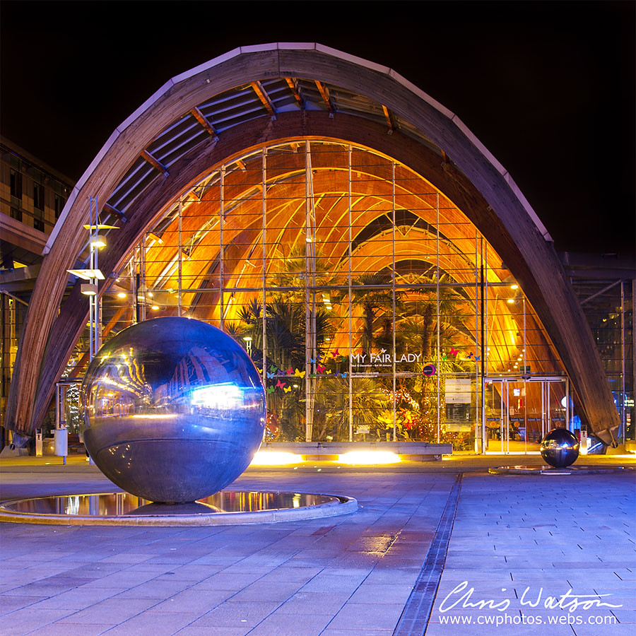 sheffield winter gardens at night shot on 02 jan 2013 by u2026 flickr