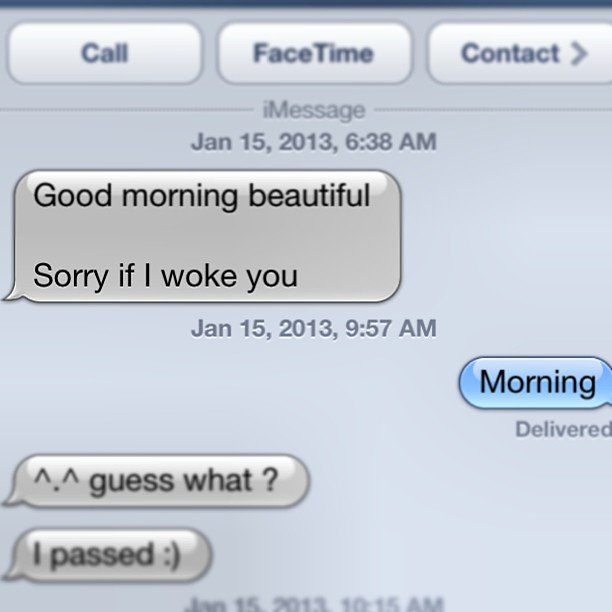 Good Morning Handsome Text Messages : Every girl wants that good morning beautiful text when