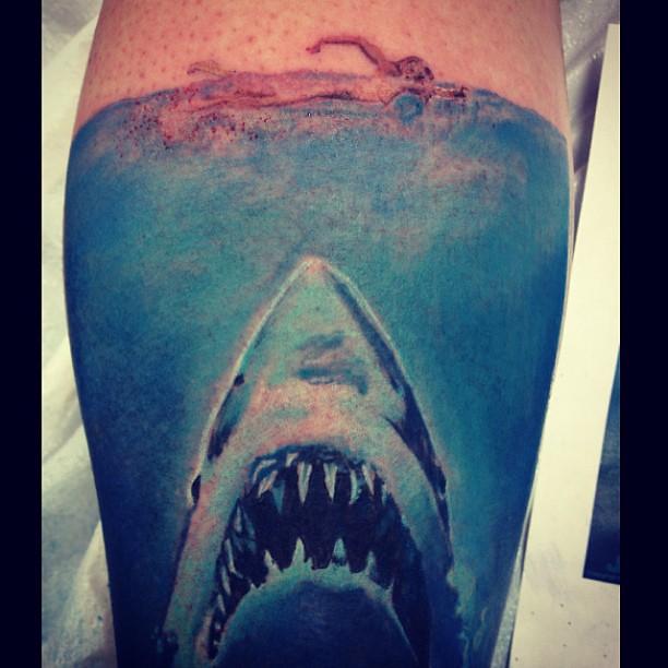 Jaws Tattoo Done