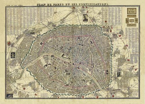 Paris plan de paris et ses fortifications a map - Faire ses plans en 3d ...