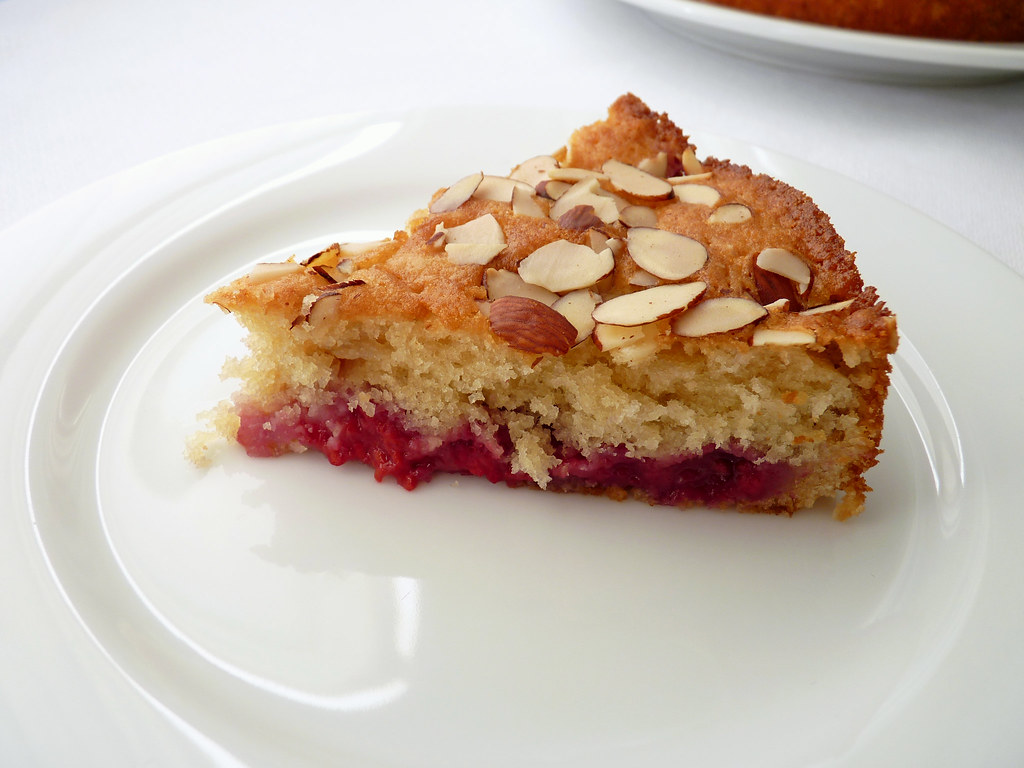 Almond Raspberry Breakfast Cake
