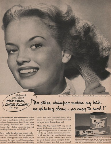 Rayve Creme Shampoo featuring Joan Evans 1951 | by 1950sUnlimited