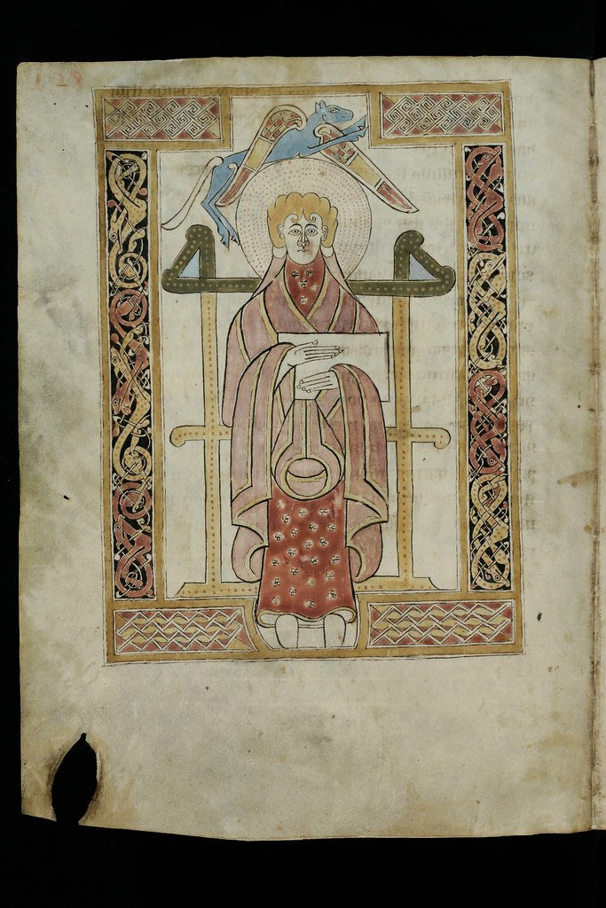 evangelist portrait of st  luke in an 8th century manuscri u2026