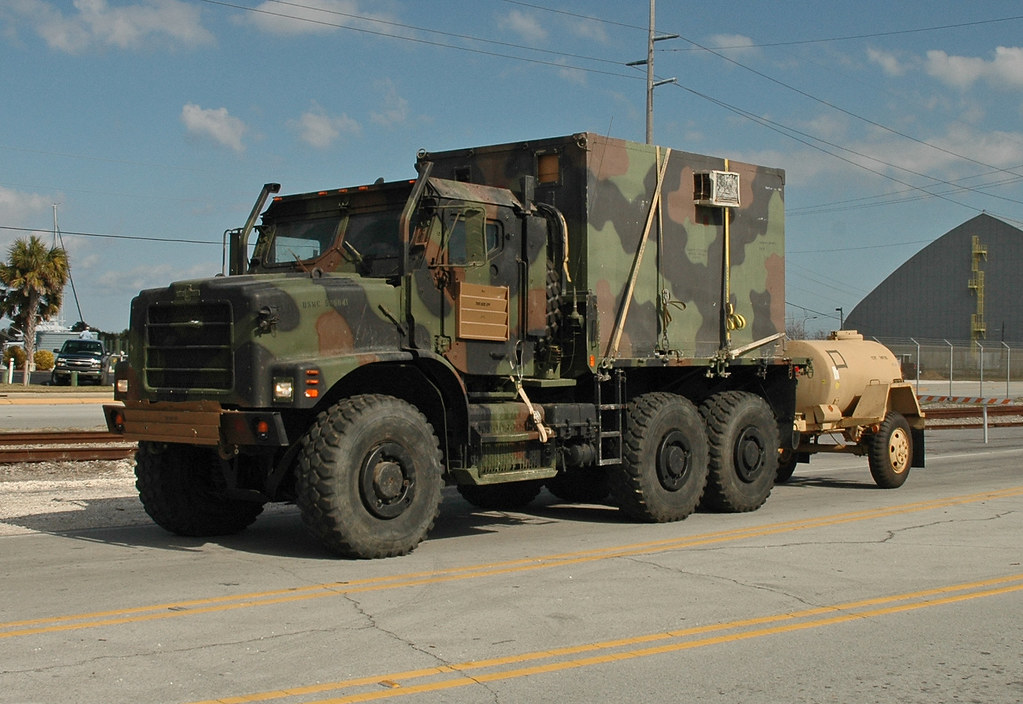 Us Marine Corps Amk23 Truck With Shelter And M149a1 Water