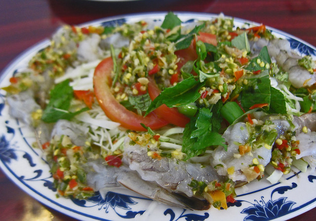 Raw Shrimp Salad - Vientiane Thai Laos Restauarant | Flickr - Photo ...