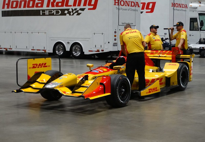 Ryan Hunter-Reay #28 Car Being Rolled Out of Paddock Area
