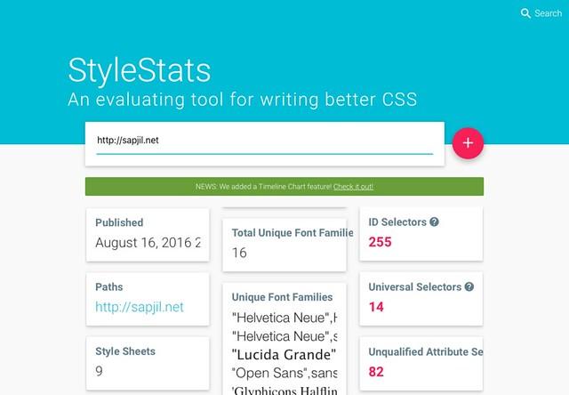 StyleStats Test Result