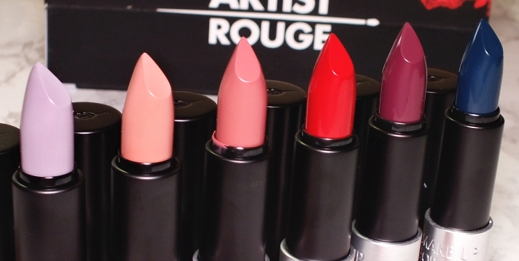 make up for ever artist rouge lipstick swatches (4)